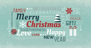 Merry Christmas tag cloud royalty free illustration