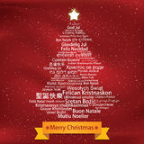 Merry Christmas Tag Cloud Royalty Free Stock Photography