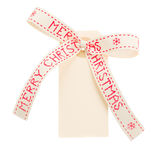 Merry christmas tag Stock Images