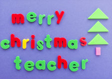 Merry Christmas teacher wishes Stock Photos