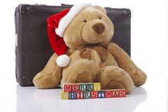 Merry Christmas teddy bear Stock Image
