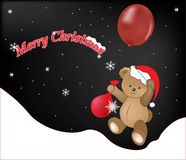 Merry Christmas teddy bear Royalty Free Stock Images