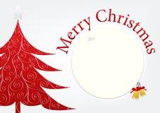 Merry Christmas template card design | greeting xmas creative frame background. Royalty Free Stock Photos