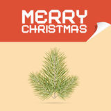 Merry Christmas Template Vector Illustration. With Branch Stock Image