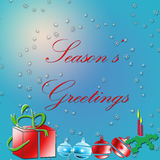 Merry Christmas. Test on a holiday background stock illustration