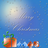 Merry Christmas. Test on a holiday background Stock Photo