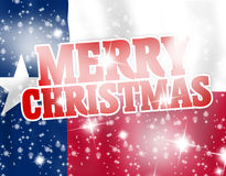 Merry Christmas Texas Flag Royalty Free Stock Photos