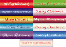 Merry Christmas Text. Set of inscriptions Merry Christmas in different fonts, vector available Royalty Free Stock Photos