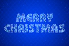 Merry Christmas Text Stock Photo