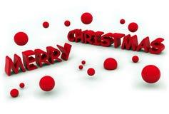 Merry christmas text. On white background Stock Photo