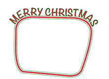 Merry christmas text box Royalty Free Stock Photo