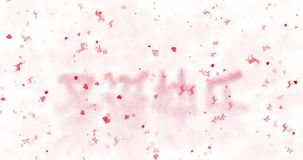 Merry Christmas text in Chinese turns to dust from bottom on white background vector illustration