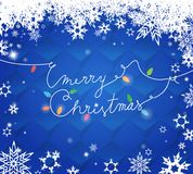 Merry Christmas text created of power cable Royalty Free Stock Photography
