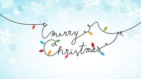 Merry Christmas text created of power cable Royalty Free Stock Photos