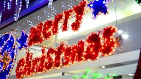 Merry christmas Text decoration stock footage