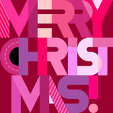 Merry Christmas text design Royalty Free Stock Photography