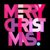 Merry Christmas text design Royalty Free Stock Image