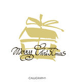 Merry Christmas text design. Vector logo, typography. Usable as banner, greeting card, gift package etc. Stock Images