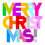 Merry Christmas text design Royalty Free Stock Photo
