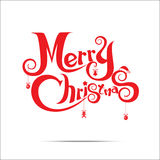 012-Merry Christmas text Royalty Free Stock Image