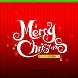 014-Merry Christmas text 004. Merry Christmas text from free hand design vector illustration Stock Images