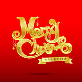 012-Merry Christmas text 003 Royalty Free Stock Photos