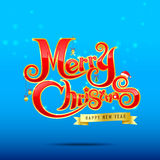 012-Merry Christmas text 002 Royalty Free Stock Photography