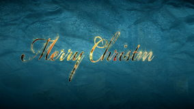 Merry christmas text on frozen window stock video footage