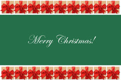 Merry Christmas text on green background Stock Image
