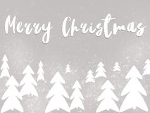 Merry Christmas text, handwritten sign on stylish simple christm royalty free stock photos
