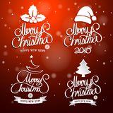 Merry Christmas text Royalty Free Stock Images