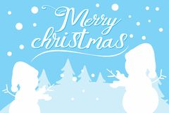 Merry Christmas. Text for invitation, greeting card royalty free illustration