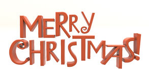 Merry Christmas text isolated Royalty Free Stock Photo