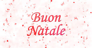 Merry Christmas text in Italian  Stock Photography