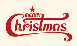 Merry Christmas text, Lettering design card template, Handwritin Stock Images