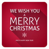 Merry Christmas text. With long shadow effect Stock Image