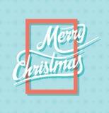 Creative merry christmas poster design Stock Photos