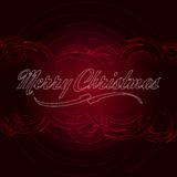 Merry Christmas text with red circles Royalty Free Stock Images