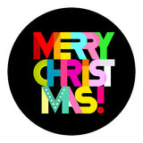 Merry Christmas text round composition Royalty Free Stock Photography