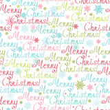 Merry Christmas Text Seamless Pattern Background Vector Illustration