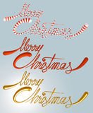 Merry Christmas  text set. Merry Christmas sign -  set with clipping path 3d render template Stock Photography