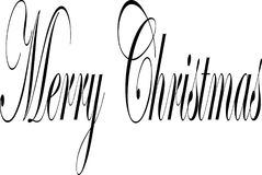 Merry Christmas text sign illustration writen in English royalty free illustration