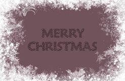 Merry Christmas. Text with star fonts on neutral background Royalty Free Stock Image