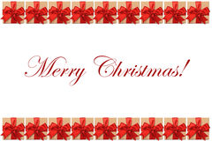 Merry Christmas text on white background Stock Photos