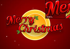 Merry Christmas text worked out to details. Royalty Free Stock Images