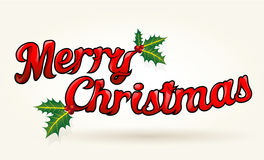 Merry Christmas text worked out to details. Vector art. Royalty Free Stock Photos