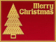 Merry Christmas textile greeting card Royalty Free Stock Photo