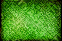 Merry Christmas texture. Green christmas typographic textured wallpaper Royalty Free Stock Images