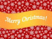 Merry Christmas theme banner witn snowflake pattern Royalty Free Stock Photo