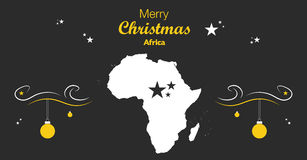 Merry Christmas theme with map of Africa Stock Photography